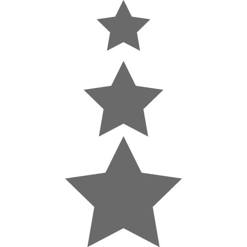 60 Star Vinyl Stickers Charcoal Silver Aurum92