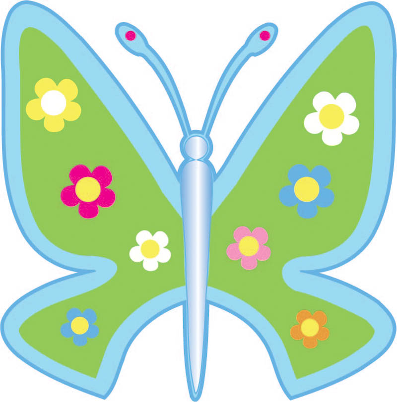 Green Printed Butterfly Stickers Car Sticker Kitchen