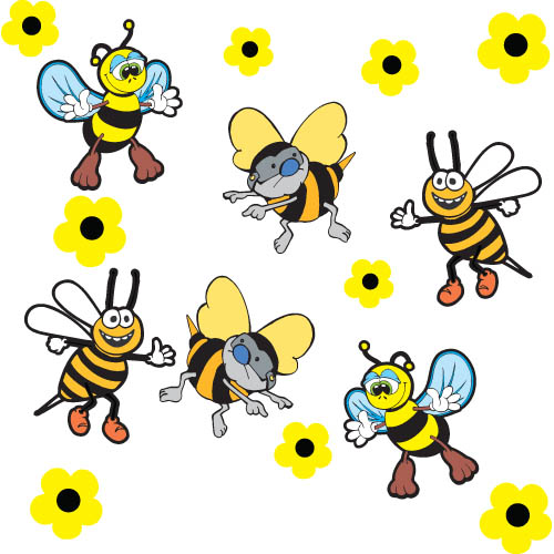 Bumble Bee Car Stickers Small Pack 14 Stickers Aurum92